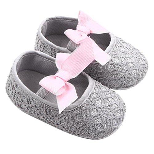 HUHU833 Kinder Mode Mädchen Schuhe Soft Sole Schuhe Kleinkind Schuhe Baby Schuhe Freizeitschuhe Grau