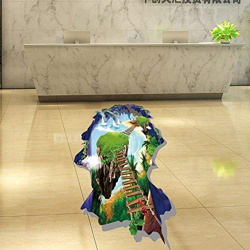 Ball Over Decor Stickers Art - Miico Creative Dolphins Sky Bridge Removable Waterproof Home Decorative Wall Decor Sticker - Knock Down Story Take Aback Blow Out Water Storey Gummed Label ()