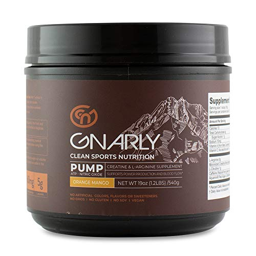 Gnarly Nutrition, Pump Creatine Supplement, All Natural Nitric Oxide Booster, Orange Mango
