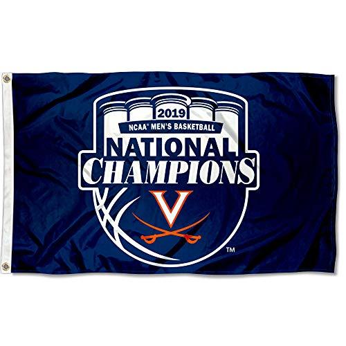 Ncaa National Championship Banner - University of Virginia College Basketball 2019 National Champions Banner Flag