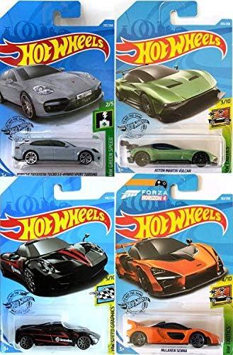 Hot Wheels S E Sport Porsch Turbo Hybrid Edition Bundled With Mclaren Senna Exotics Pagani Huayra Speed Black Aston Martin Vulcan Green Die Cast Models 4 Items Buy Online At Best Price In