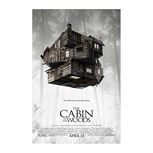 Cabin in The Woods Poster Print Wall Decor 24x36 Inches Photo Paper Material Unframed -