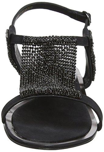 Lotus Damen Agnetha Peep-Toe Black (Black/Diamante)
