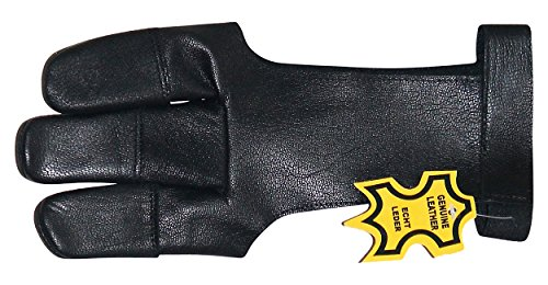 Leather Archery Shooting Glove Three Finger (Best Archery Shooting Glove)