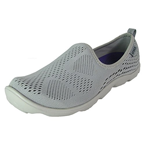 Crocs - Womens DuetBusyDayXpressMesh Skimmer Clogs, Size: 8 B(M) US Womens, Color: Light - Graphite Color Shoes