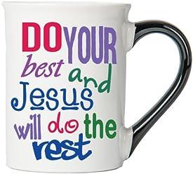 Do Your Best And Jesus Will Do The Rest Mug , Inspirational Coffee Cup, Inspirational Mug, Ceramic Mug, Custom Inspirational Gifts By Tumbleweed