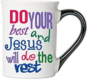 Do Your Best And Jesus Will Do The Rest Mug , Inspirational Coffee Cup, Inspirational Mug, Ceramic Mug, Custom Inspirational Gifts By Tumbleweed