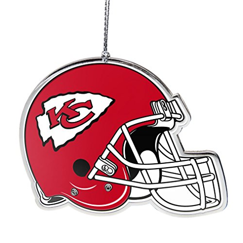 NFL Kansas City Chiefs Flat Metal Helmet - Nfl Ornaments