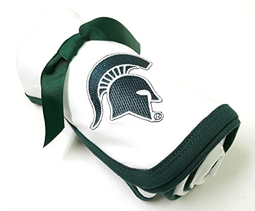 Future Tailgater Michigan State Spartan Baby Receiving Blanket ()
