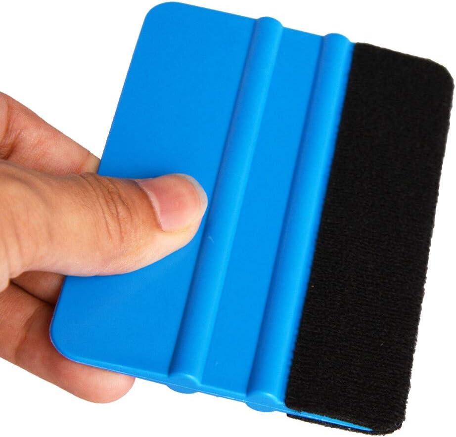 colore blu car wrapping con pellicole su auto finestrini confezione da 10 pezzi vinile Housesweet Spatole con feltro per applicazione di decalcomanie
