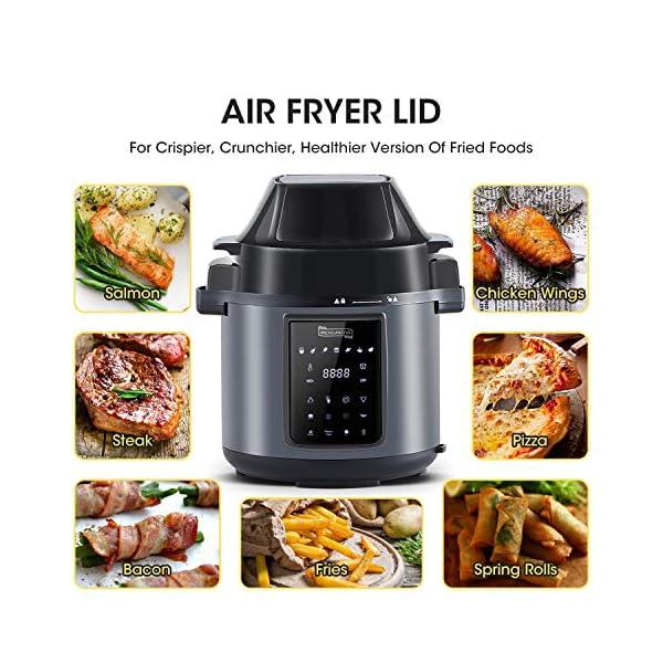 MICHELANGELO 6 QT Pressure Cooker Air Fryer Combo, All-in-1 Pressure Cooker with Air Fryer - Two Detachable Lids for… 3