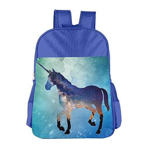 JXMD Custom Unicorn Children School Bag Backpack For 4-15 Years Old RoyalBlue (Case Iphone 4 Smurf)