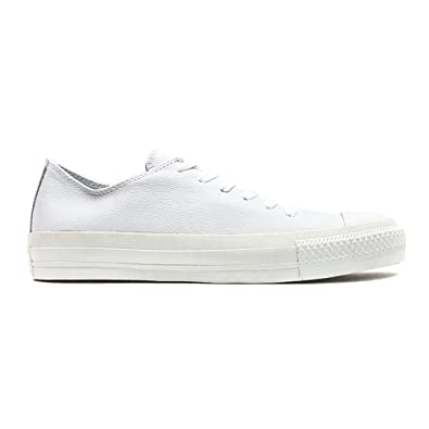 cebc0a786734 Converse New Unisex White Leather Upper Lace Up Fastening Pumps - White - UK  Size 11.5