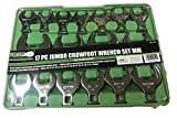 17pc GRIP Metric Jumbo Crow Foot Wrenches Set