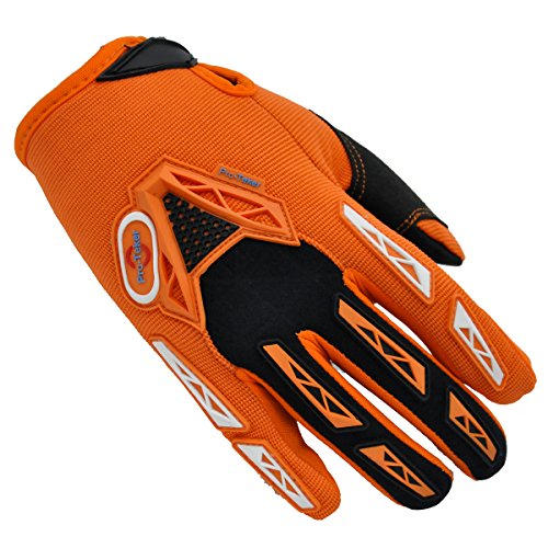 Pro-Teker Gloves,PTC-03,Outdoor Motorcycle Bike Racing Powersports driving gloves Cycling Riding For Cross-country Road Sports (Orange, XL)