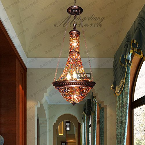 Southeast Asian Thai style bar cafe crystal pendant lamp Mediterranean Bohemia restaurant LO11604PY by Super PP
