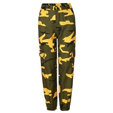 f43683ace1 RUEWEY Women High Waist Hip Hop Dance Tapered Cargo Jogger Pants Trousers  Harem Baggy Jogging Sweatpants