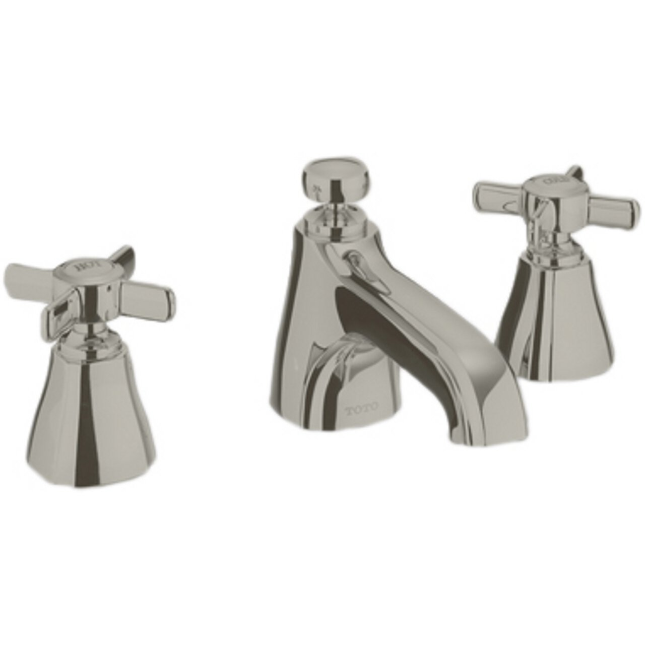 Toto TL970DDLQ#BN 1.5 GPM Guinevere Widespread Lavatory Faucet, Brushed Nickel
