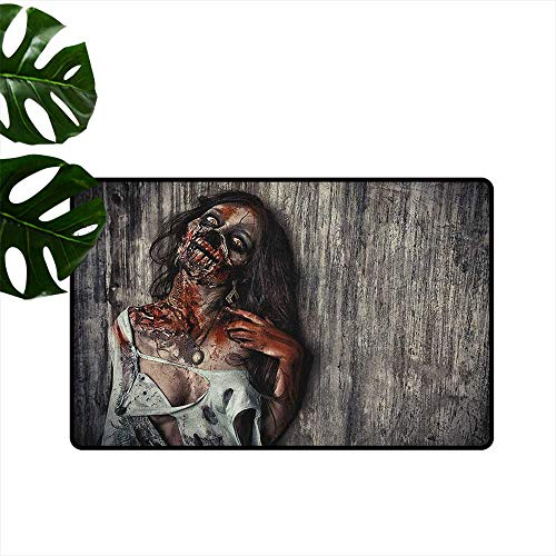 RenteriaDecor Zombie,Kids Floor mats Angry Dead Woman Sacrifice Fantasy Design Mystic Night Halloween Image 31