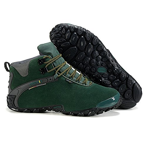 OneMix Women Ankle-High Warm Comfortable Sport Shoes Waterproof Winter Snow Boots Trekking Trail Hiking Boots DarkGreen Black vvVD88