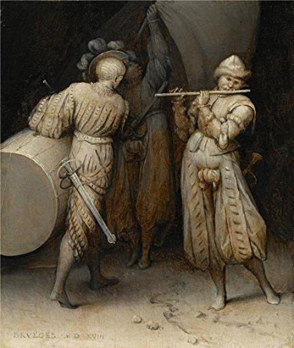 Perfect Effectのキャンバス、鮮やかなアート装飾キャンバスプリントの油絵` Pieter Bruegel the Elder–3つのSoldiers、1568`、18x 21インチ/ 46x 54cmはBest forロビーアートワークとホームギャラリーアートとギフト