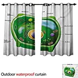 WilliamsDecor Educational 0utdoor Curtains for Patio Waterproof Plant Cell Biology Research Botany Anatomy Structure Organic Life Nature W72 x L63(183cm x 160cm)