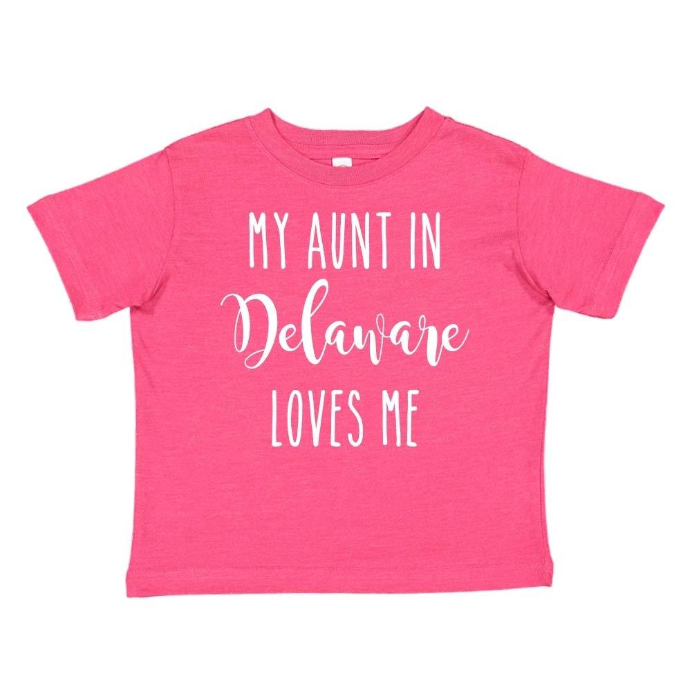 My Aunt in Delaware Loves Me Toddler//Kids Short Sleeve T-Shirt
