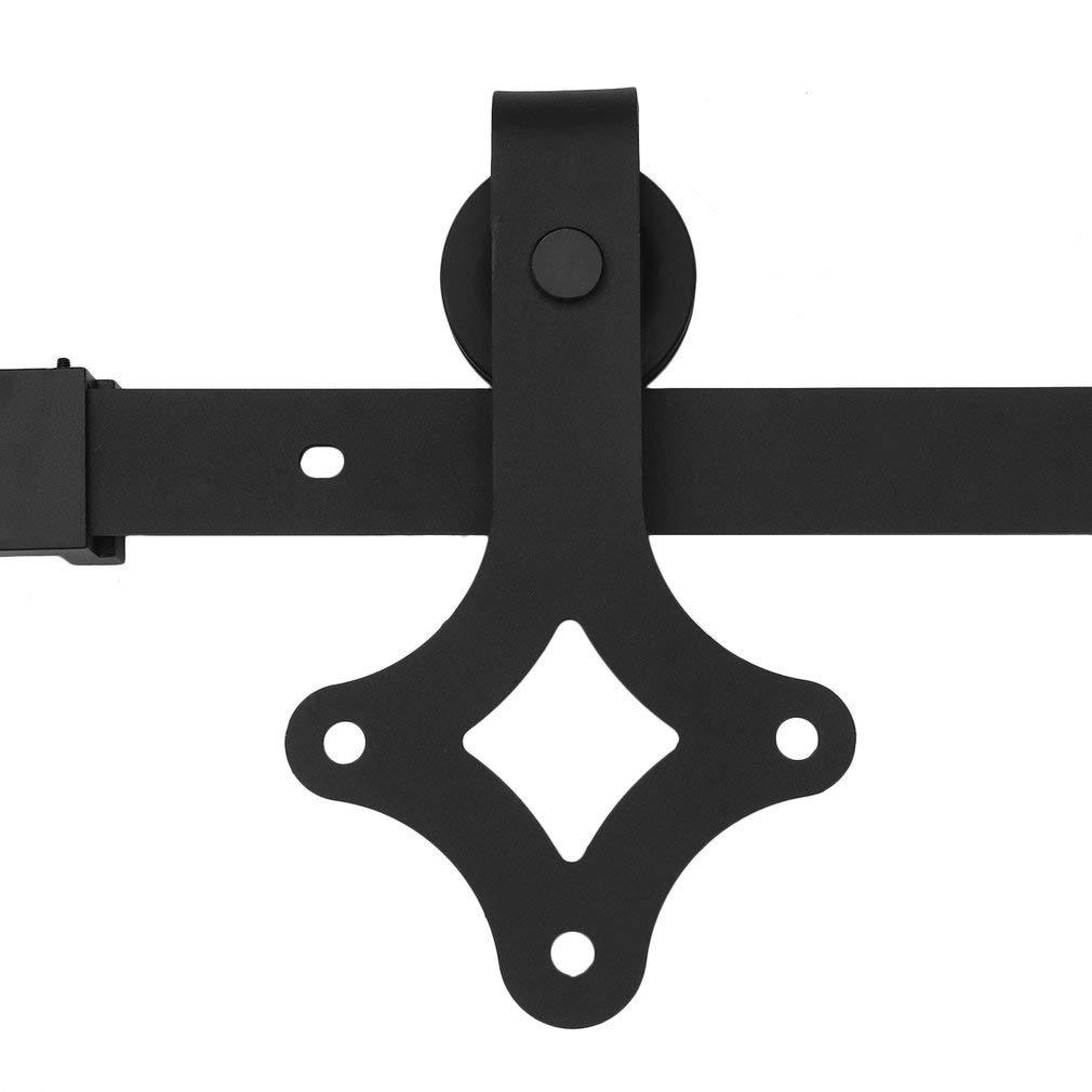 2.44m I-f/örmig Schiebet/ürsystem Laufschiene Schiebet/ür Beschlag Schiebet/ürbeschlag Beschlag Barn Holz Schrank Scheunentor Hardware Track Set f/ür eine T/ür