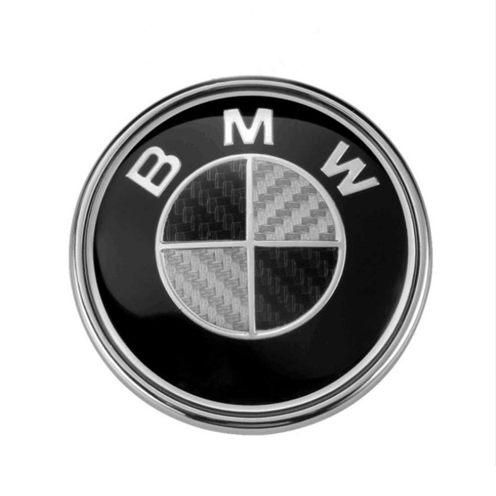 7 Myhonour Emblem 82mm Haube Logo Vorne mit eingearbeiteter Kohlefaser mit Schwarz /& wei/ß