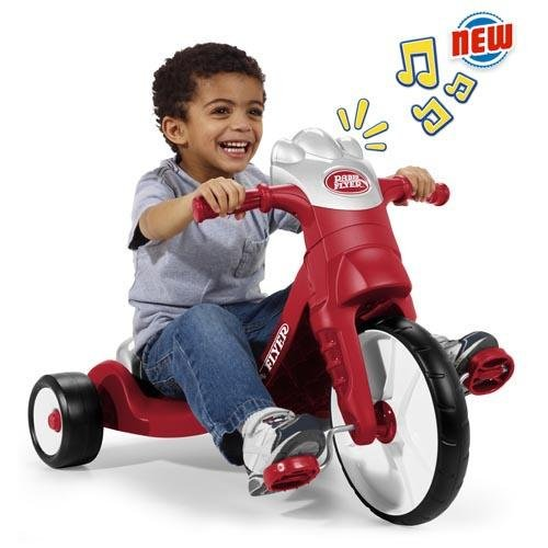 Radio Flyer My First Big Flyer With Lights & Sounds Kids' Tricycle 3 AAA Tatteries