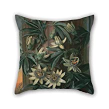 Pillow Shams Of Oil Painting Philip Reinagle - Blue Passion Flower, For The 'Temple Of Flora' By Robert Thornton 20 X 20 Inches / 50 By 50 Cm Best Fit For Kids Room Bedding Pub Bedding Couples Out