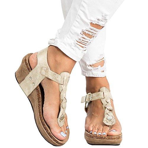 Toe Sexy Sandali Clip Shoes Casuale Zeppa Eleganti Shoes Tacco Open con Tacco Minetom Toe Moda Donna retr Alto qwdZn0HH