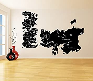 Amazoncom 87 X 61 Vinyl Wall Decal World Map Game Of