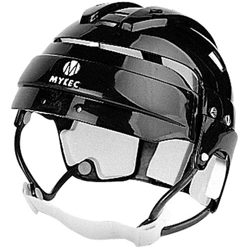 Mylec Helmet with Chinstrap, BLACK (Best Youth Hockey Helmet)