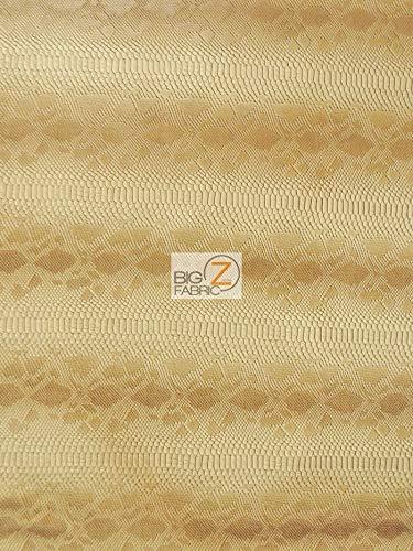 BY YARD VIPER SOPYTHANA EMBOSSED SNAKE SKIN VINYL LEATHER FABRIC Desert Gold