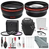 58MM HD 2.2x Telephoto & 0.43X Wide Angle + Xpix Photo Accessories w/ Basic & Travel Bag for CANON REBEL (T6s T6i T6 T5i T4i T3i T3 T2i T1i XT XTi XSi), EOS (700D 650D 600D 1100D 550D 500D 100D)