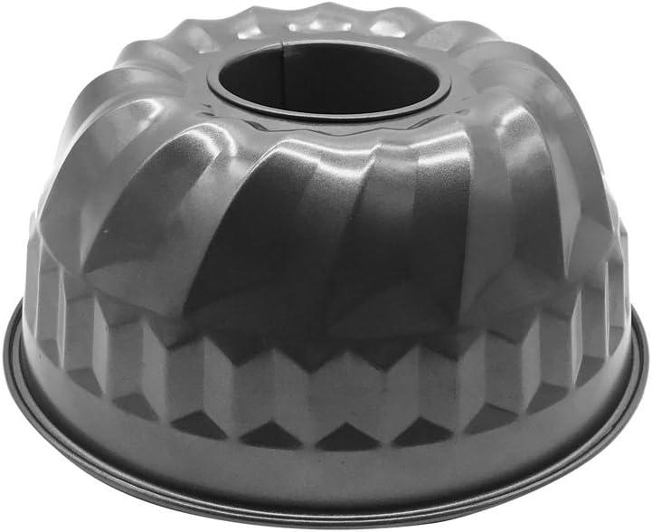 "HOMOW Nonstick 9 inch Fluted Tube Cake Pan, Warp Resistant Nonstick Baking Pan, Bundt Pan NS-BP01 (9""x 9""x 4"")"