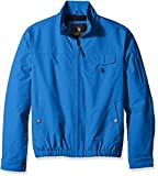 U.S. Polo Assn. Men's Micro Peached Windbreaker Jacket with Fleece Lining, China Blue, M