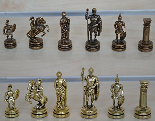 Chess Copper (Manopoulos Romans Small Chess Set - Gold-Copper - Handmade in Greece)