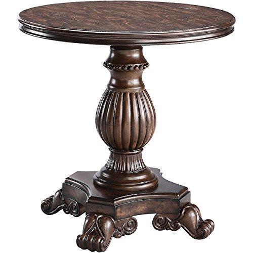 (Stein World Furniture Ellsworth Pedestal Table, Rich Dark Distressed)