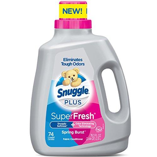Snuggle Plus Super Fresh Liquid Fabric Softener, Spring Burst, 78.3 Fluid Ounce