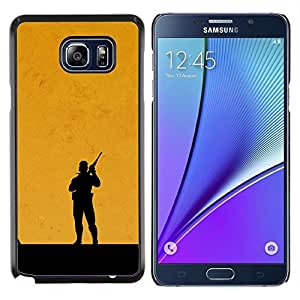 Qstar Arte & diseño plástico duro Fundas Cover Cubre Hard Case Cover para Samsung Galaxy Note 5 5th N9200 (Metal Gear Naranja)