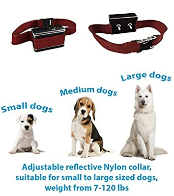 [UPGRADED 2018] Bark Collar with NEW Chip - Best Dog Automatic Anti-Barking Shock Collar. No Bark Control Device 5 Levels for Small / Medium / Large Dogs / Electronic Pet Safe Stop (R-8)