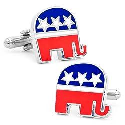 Cufflinks Inc Republican Elephant Cufflinks (PD-ELE-SL)