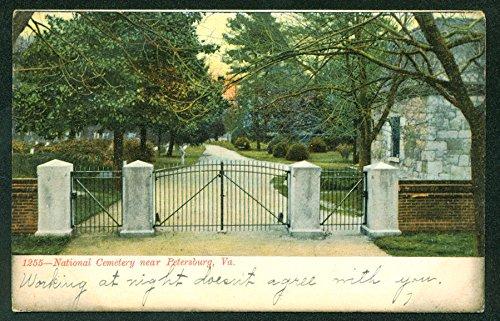 Cemetery Postcard with Creepy Written Message Petersburg Virginia VA - Cemetery Postcard