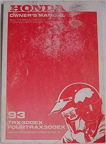 honda sportrax 300ex owners manual