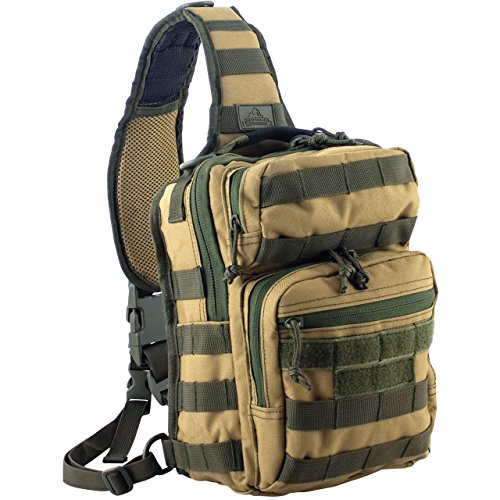 Red Rock Outdoor Gear Rover Sling Pack (Coyote/Olive Drab, One Size)