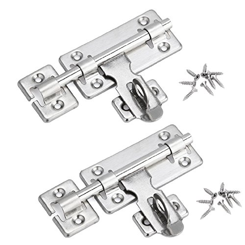 - Creatyi 2 PCS Stainless Steel Left or Right Locking Door Latches Sliding Lock Barrel Bolt