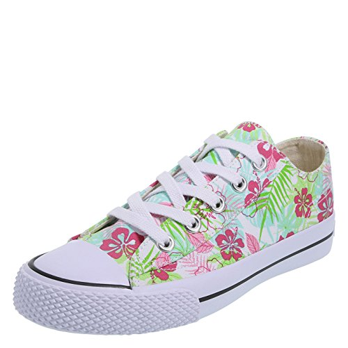 Airwalk Women's Legacee Sneaker Green Tropical Print