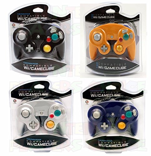 Video Game Accessories 4X BRAND NEW CONTROLLERS FOR NINTENDO GAMECUBE Wii BLACK, ORANG, SILVER, BLUE